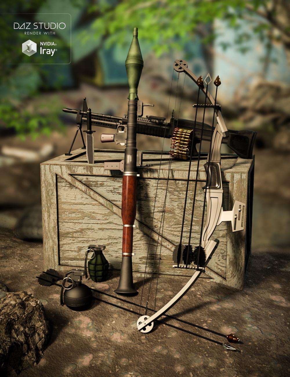 Mercenary Soul Weapons by: Val3dart, 3D Models by Daz 3D