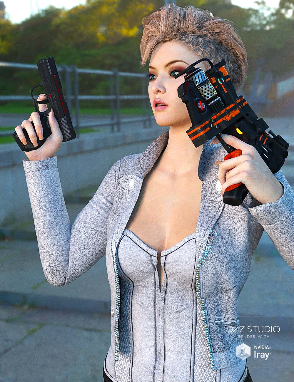 Sci-fi Gun Set by: chungdan, 3D Models by Daz 3D