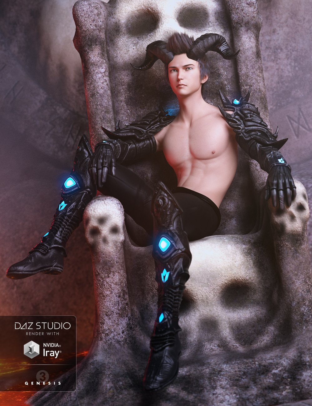Suneko Outfit for Genesis 3 Male(s) by: MadaSarsa, 3D Models by Daz 3D