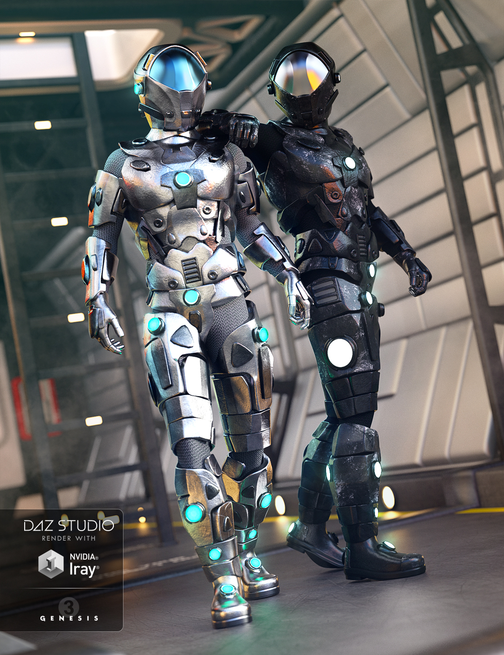 Galactic Armor Outfit for Genesis 3 Male(s) by: NikisatezDirtyFairy, 3D Models by Daz 3D