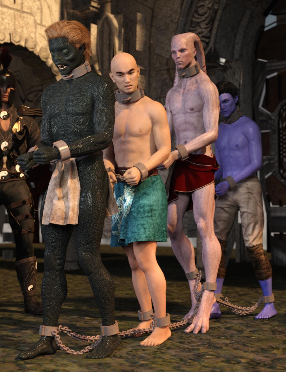Shackled! Genesis 3 by: Sickleyield, 3D Models by Daz 3D