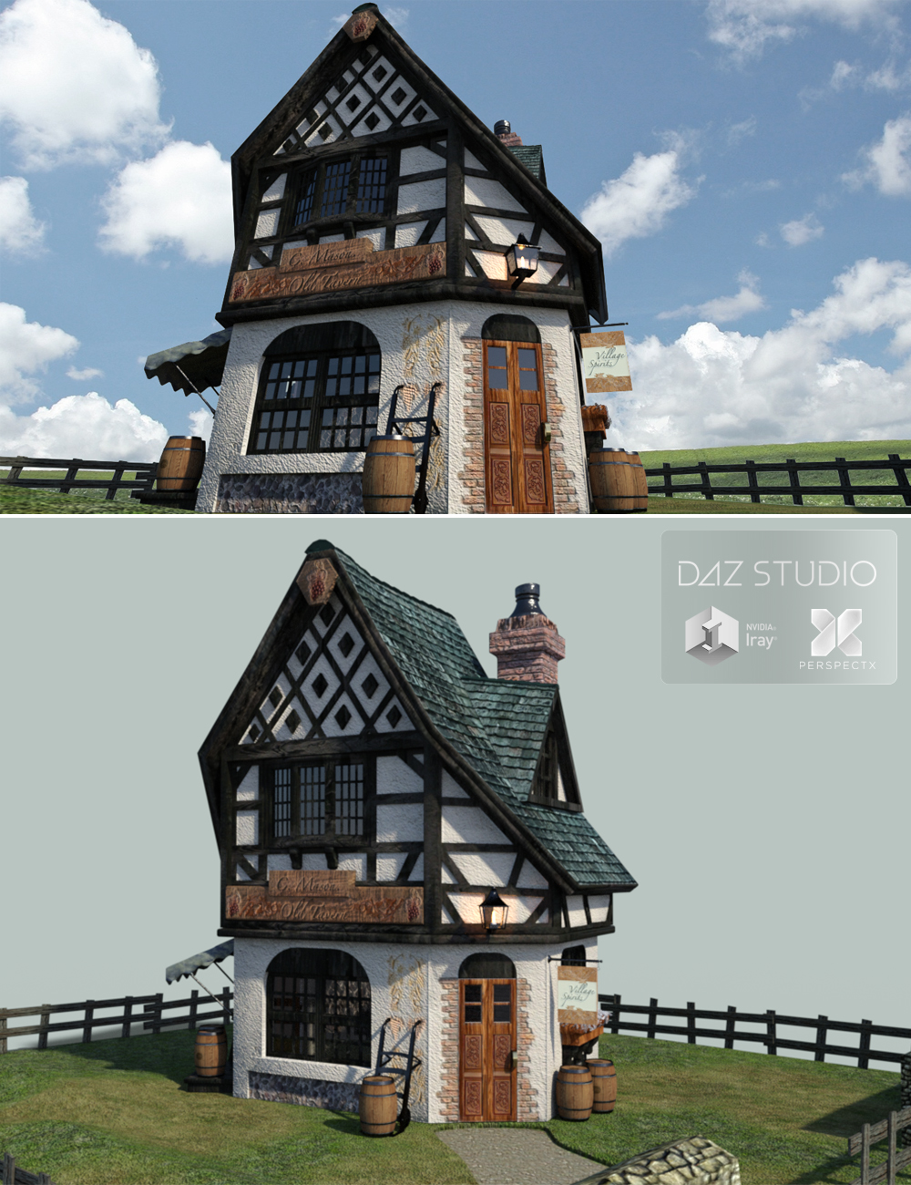 Old Toon Tavern by: PerspectX, 3D Models by Daz 3D