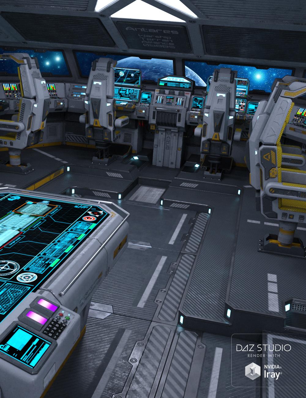 Sci-fi Cockpit Interior by: petipet, 3D Models by Daz 3D