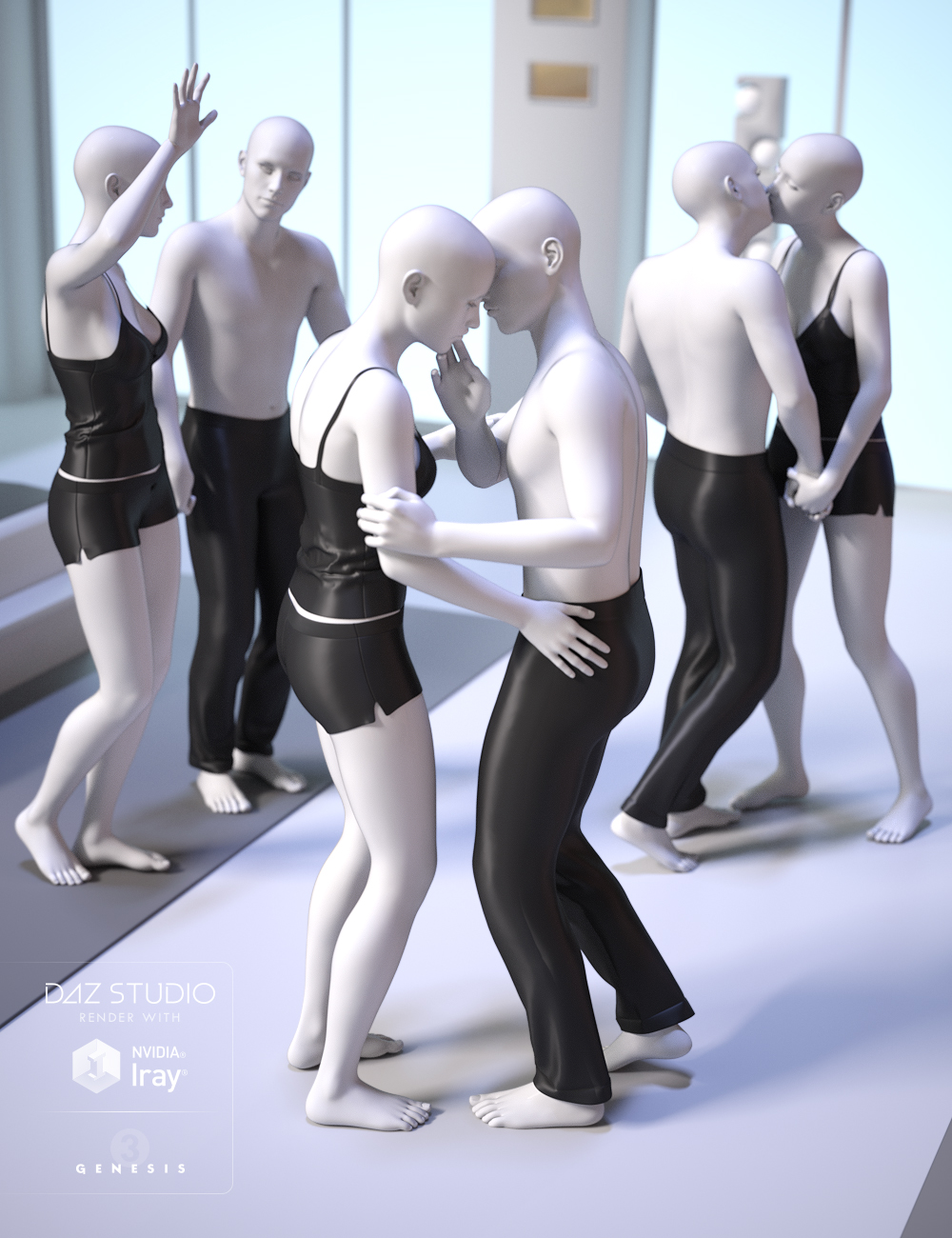 Tender Moments for Genesis 3 by: FeralFey, 3D Models by Daz 3D