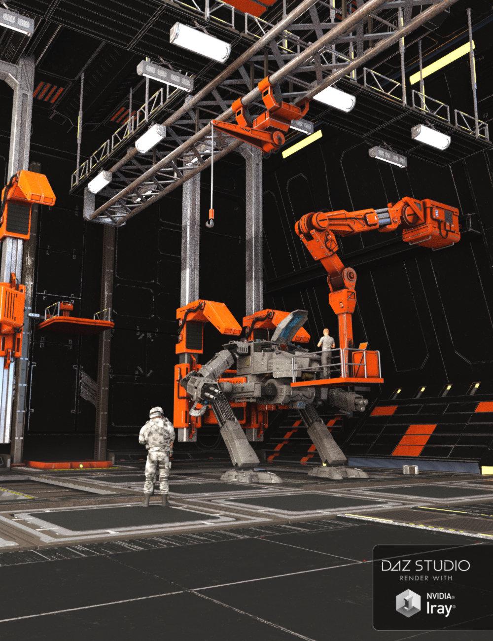 Mecha Hangar by: Mely3D, 3D Models by Daz 3D