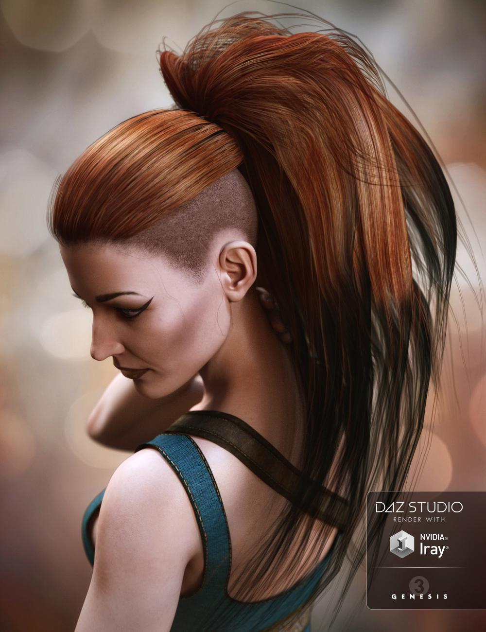 Nydo Hair for Genesis 3 Female(s) by: SWAM, 3D Models by Daz 3D