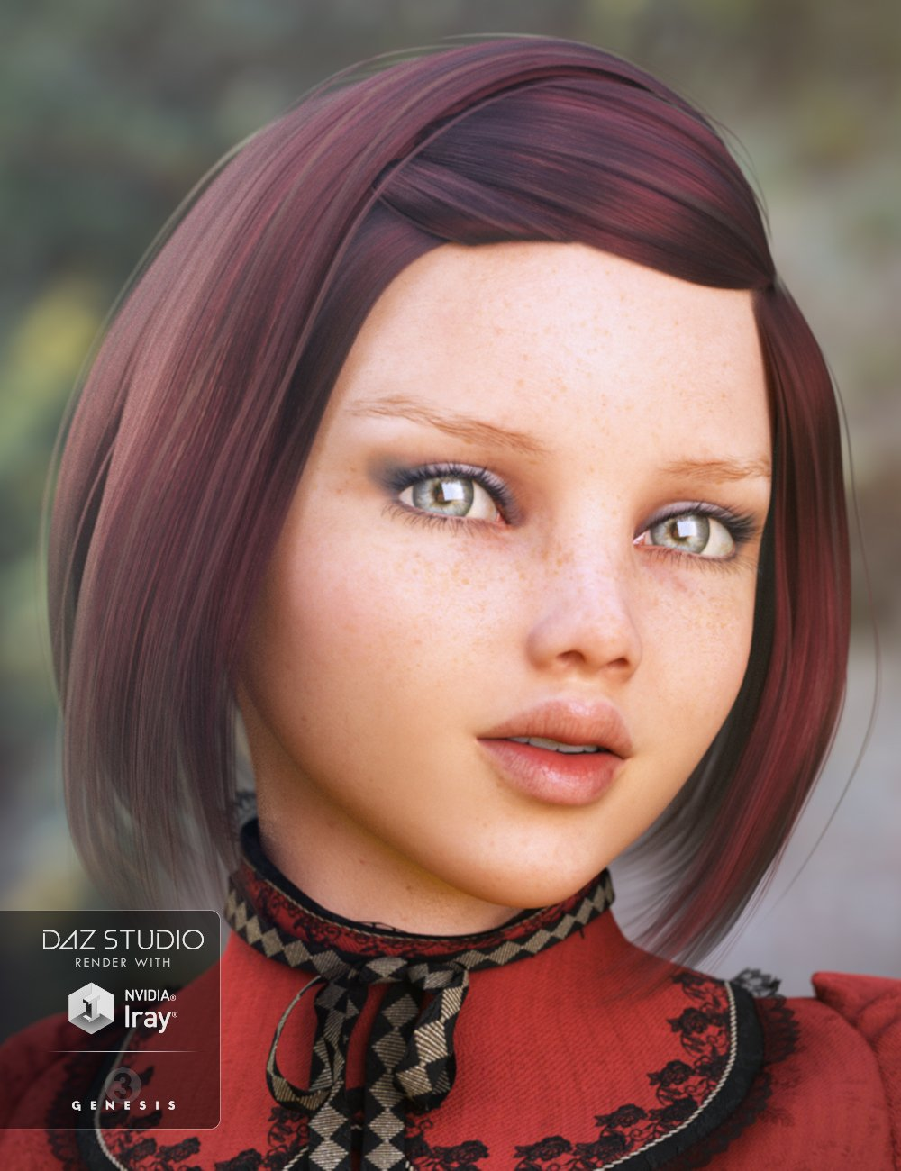 Kylie Hair for Genesis 3 Female(s) by: Propschick, 3D Models by Daz 3D