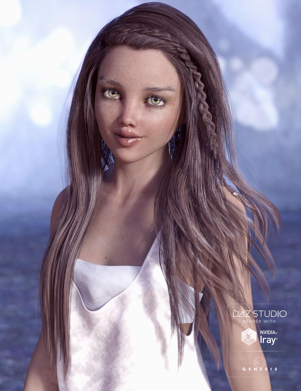 Tatum Hair for Genesis 3 Female(s) by: AprilYSH, 3D Models by Daz 3D