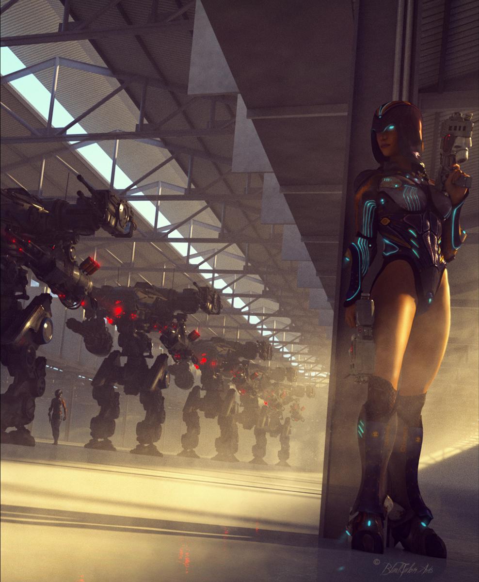 The Hangar by: DarkEdgeDesign, 3D Models by Daz 3D