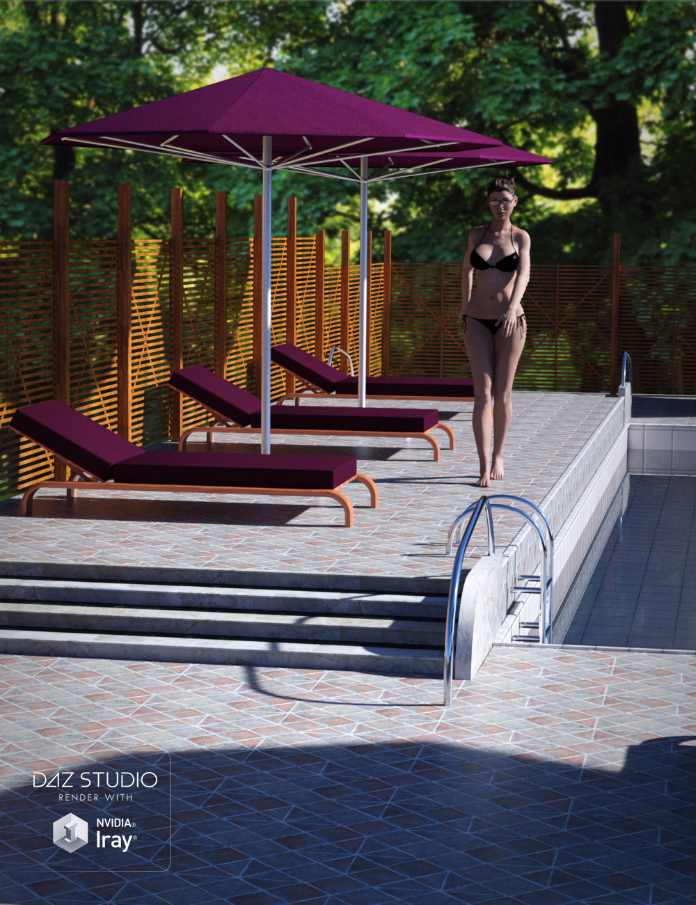 Pool Deck Exterior by: , 3D Models by Daz 3D