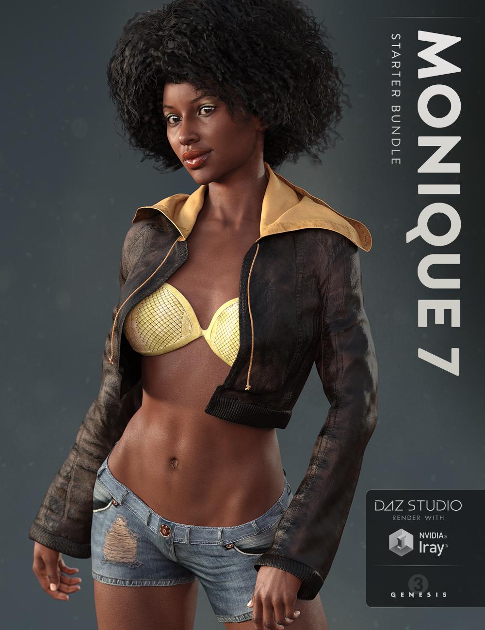 Monique 7 Starter Bundle by: , 3D Models by Daz 3D
