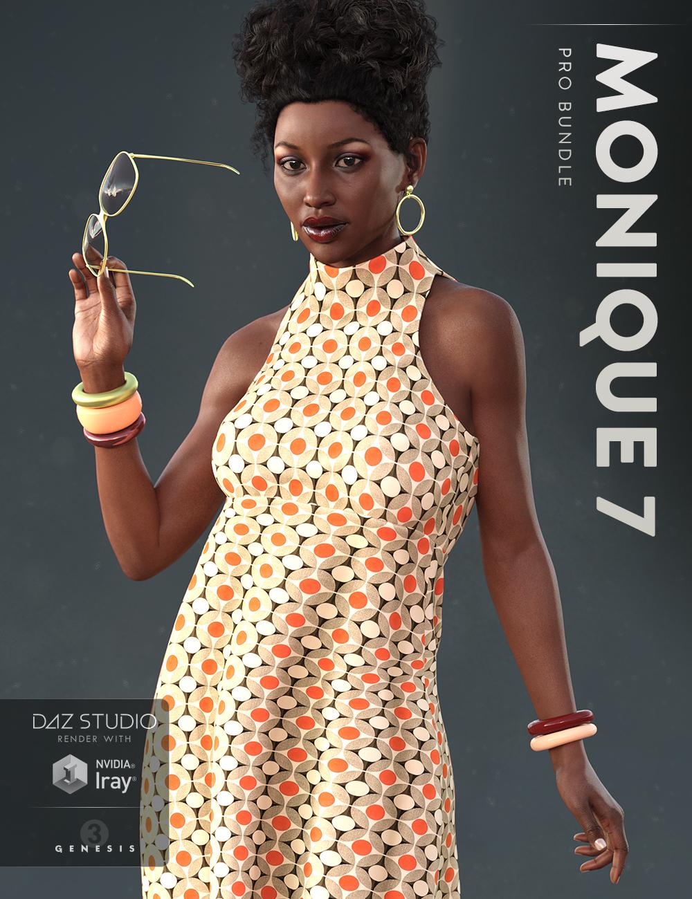 Monique 7 Pro Bundle by: , 3D Models by Daz 3D