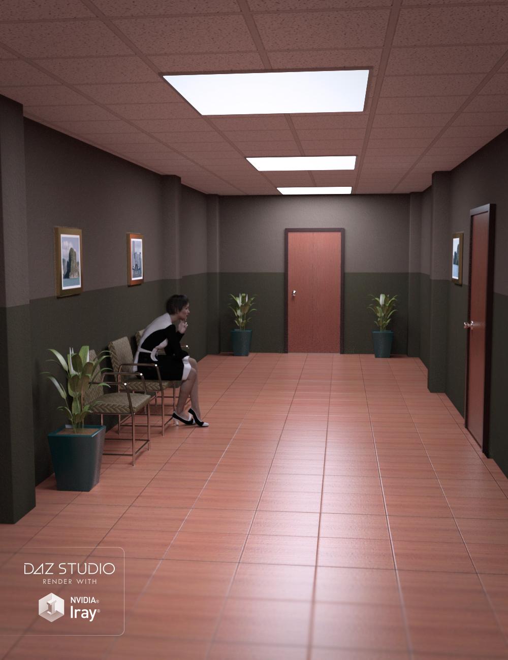 Business Hallway by: , 3D Models by Daz 3D