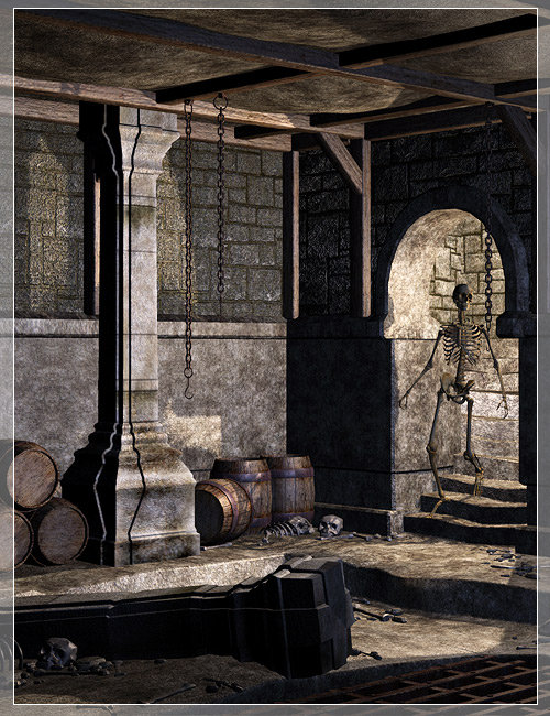 The Dark Corner of the Dungeon by: Stonemason, 3D Models by Daz 3D