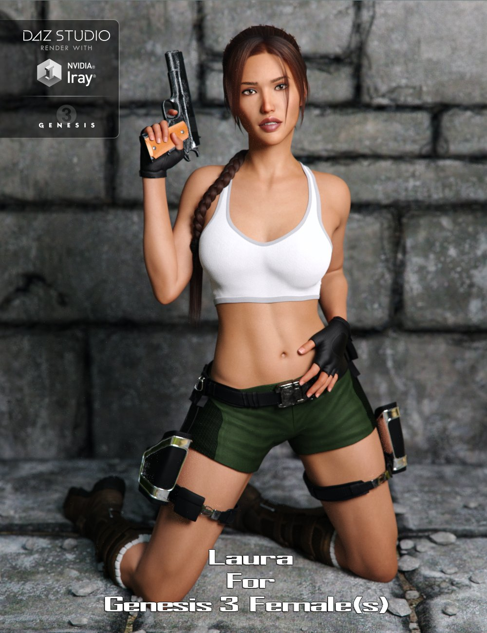 Laura for Genesis 3 Female(s) by: JavierMicheal, 3D Models by Daz 3D