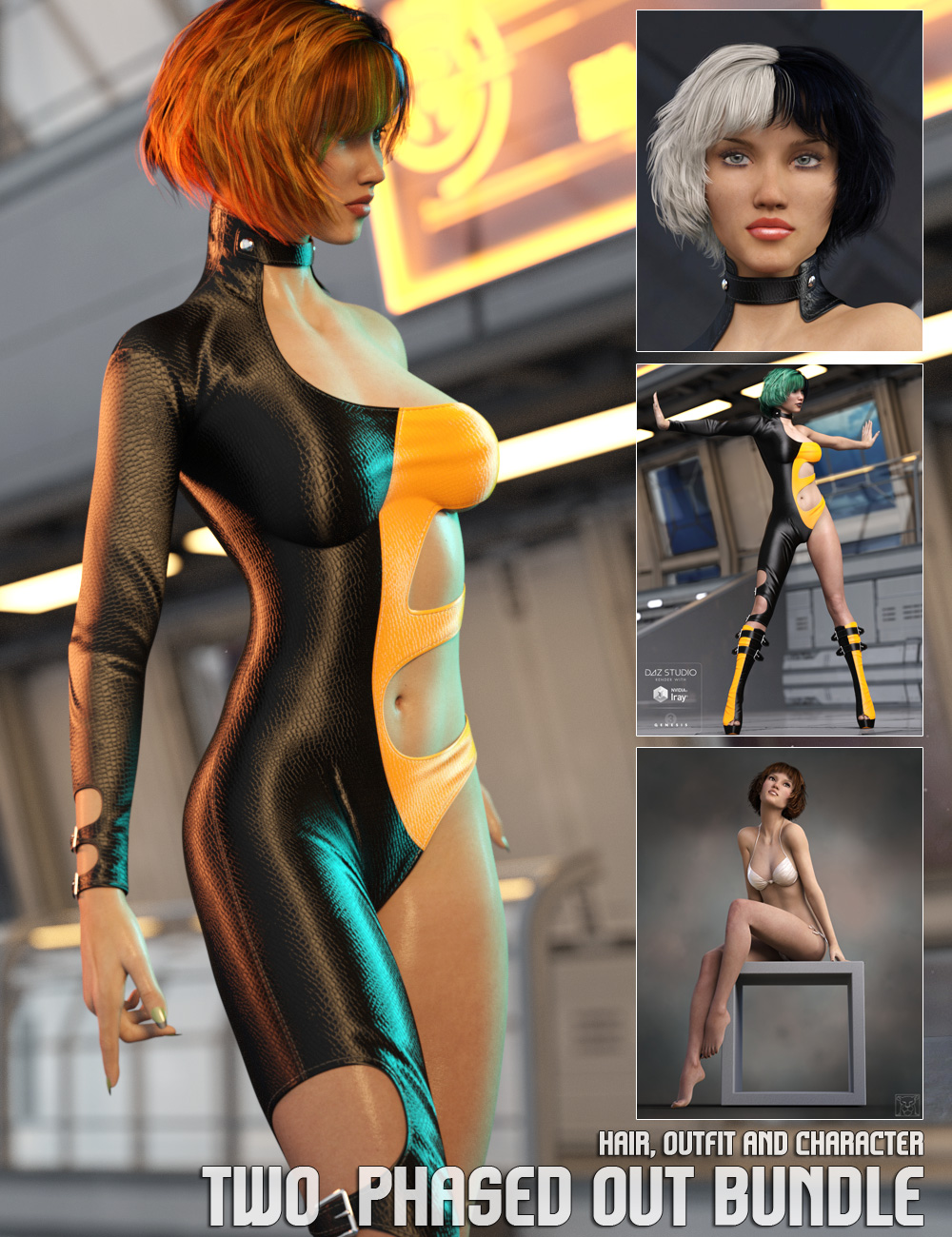 Two Phased Out Bundle by: LyonessgoldtasselLilflame, 3D Models by Daz 3D
