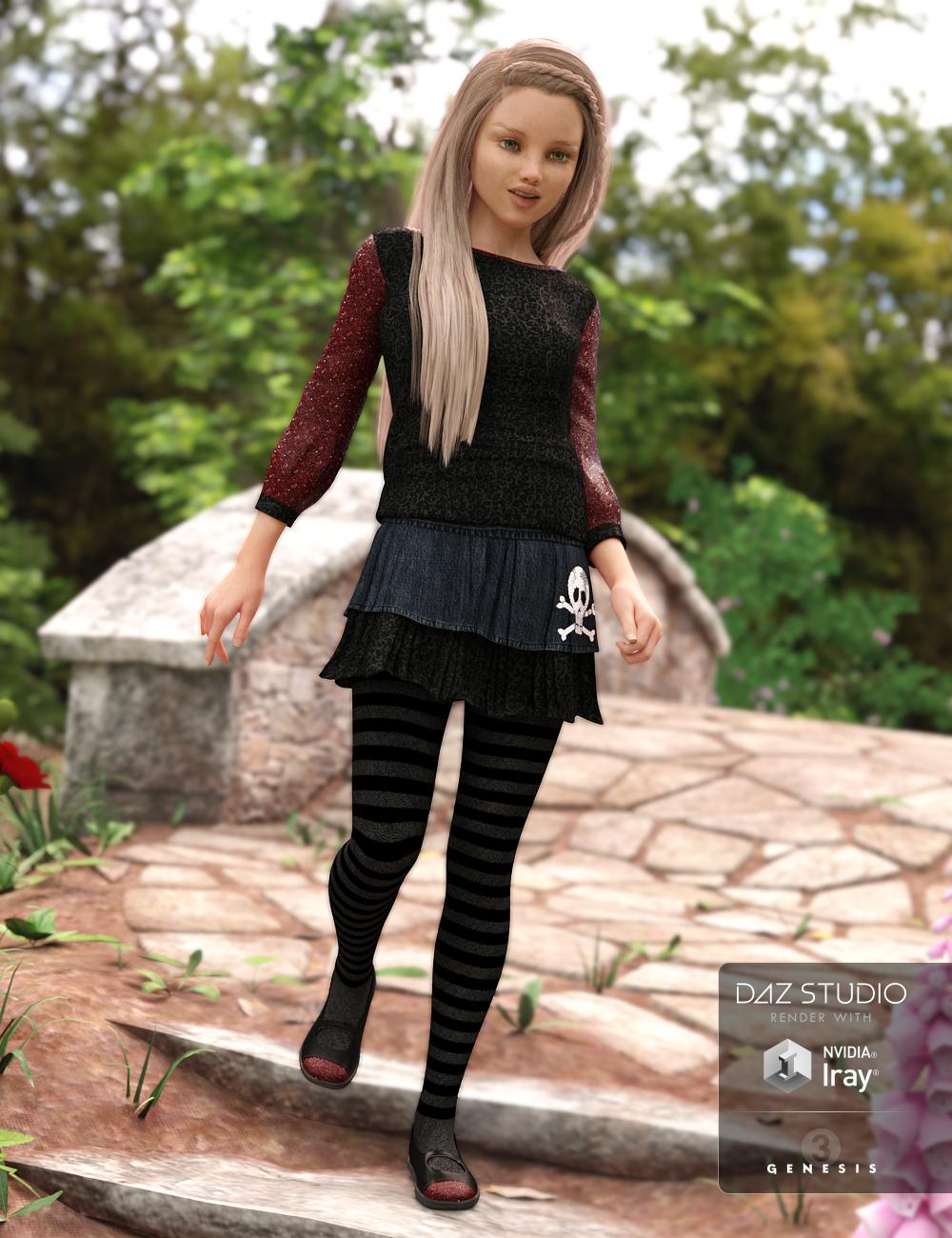 Kids Casual for Genesis 3 Female(s) by: Anna BenjaminBarbara Brundon, 3D Models by Daz 3D