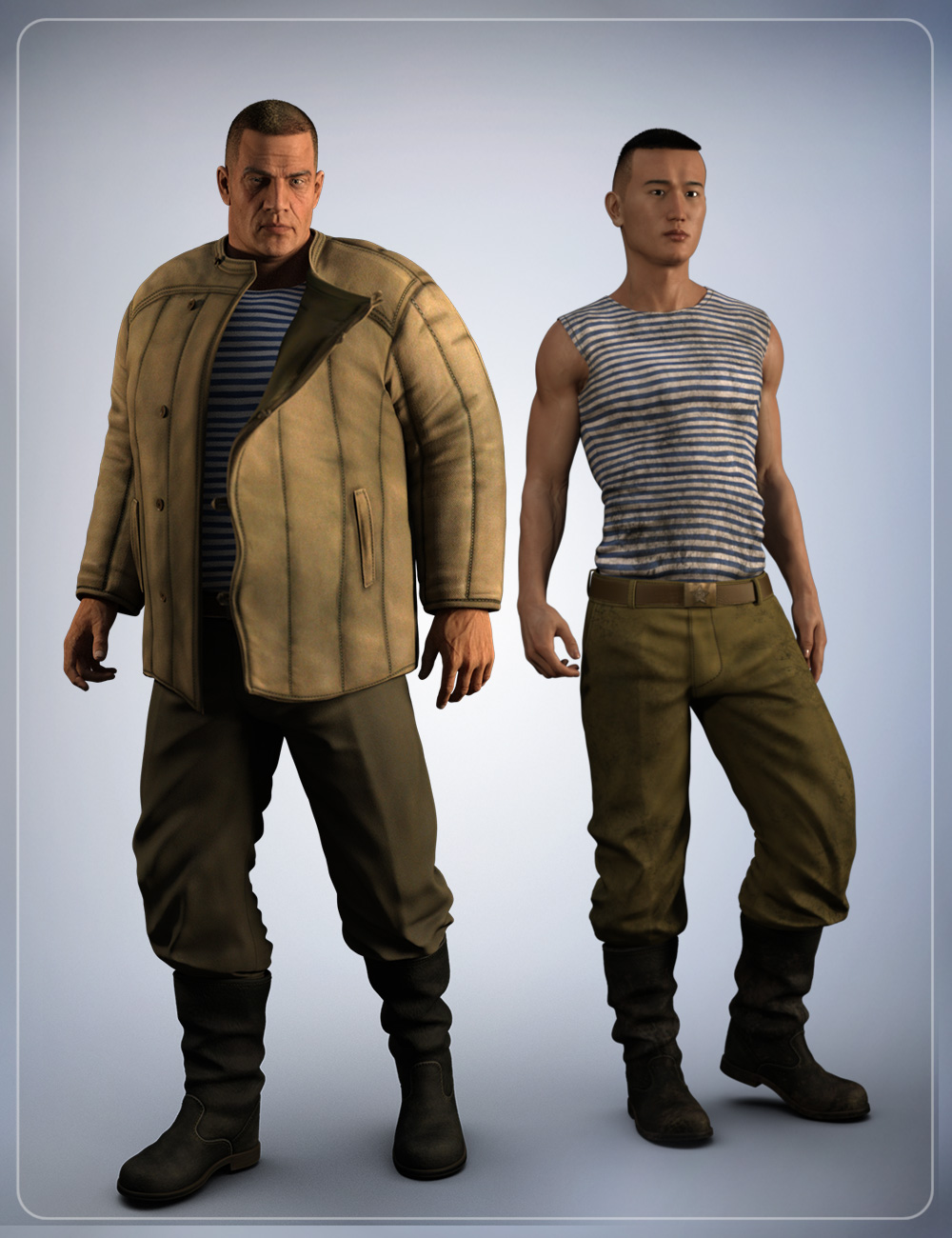 Russian Clothing for Genesis 3 Male(s) by: smay, 3D Models by Daz 3D