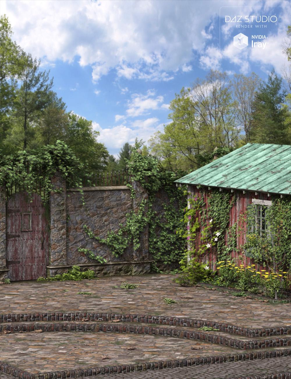 Old Garden - Structures by: Dumor3D, 3D Models by Daz 3D