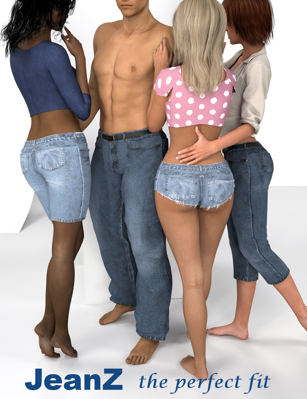 JeanZ for Genesis 3 by: the3dwizard, 3D Models by Daz 3D