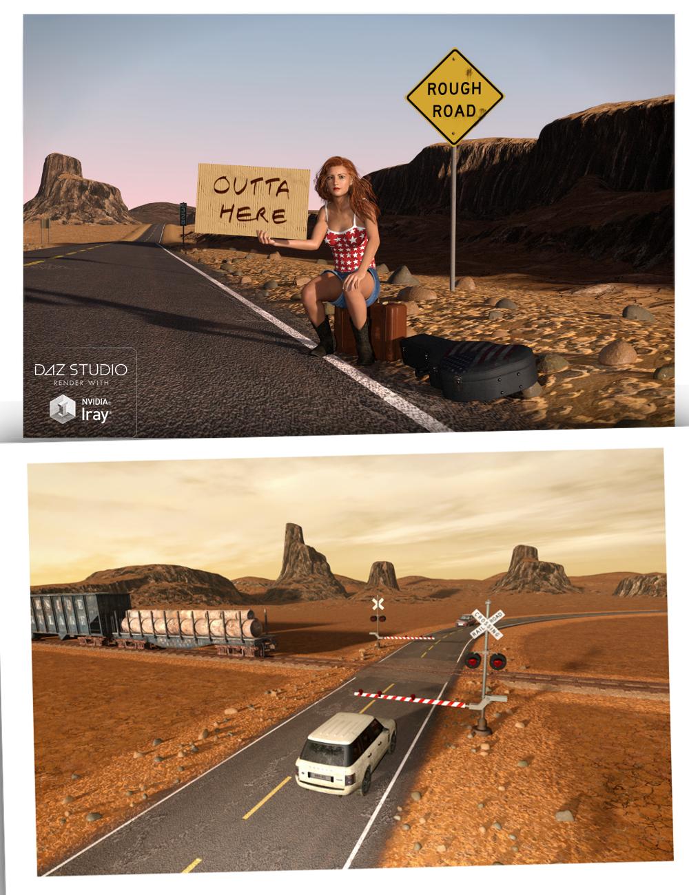 Road 'n' Rails for TerraDome 3 by: Inkara, 3D Models by Daz 3D