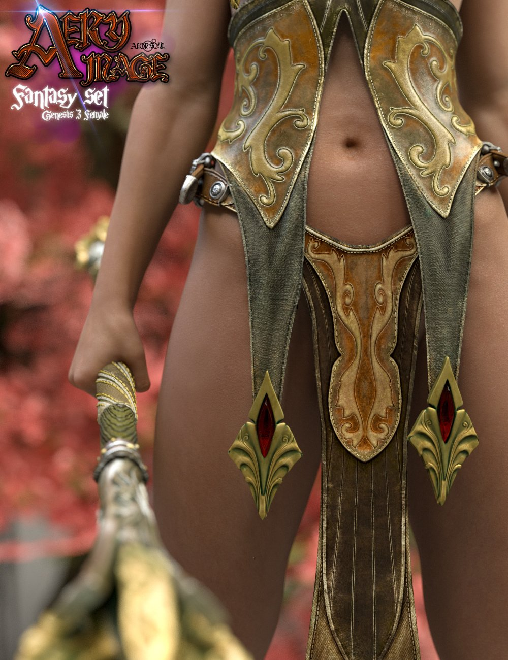 Aery Mage for Genesis 3 Female(s) by: Aeon Soul, 3D Models by Daz 3D