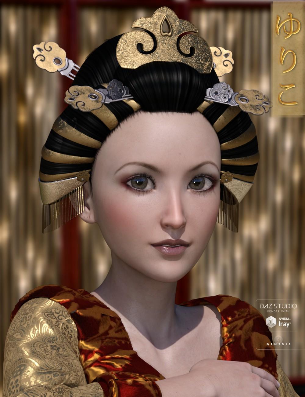 Yuriko Hair for Genesis 3 Female(s) by: 3D-GHDesign, 3D Models by Daz 3D