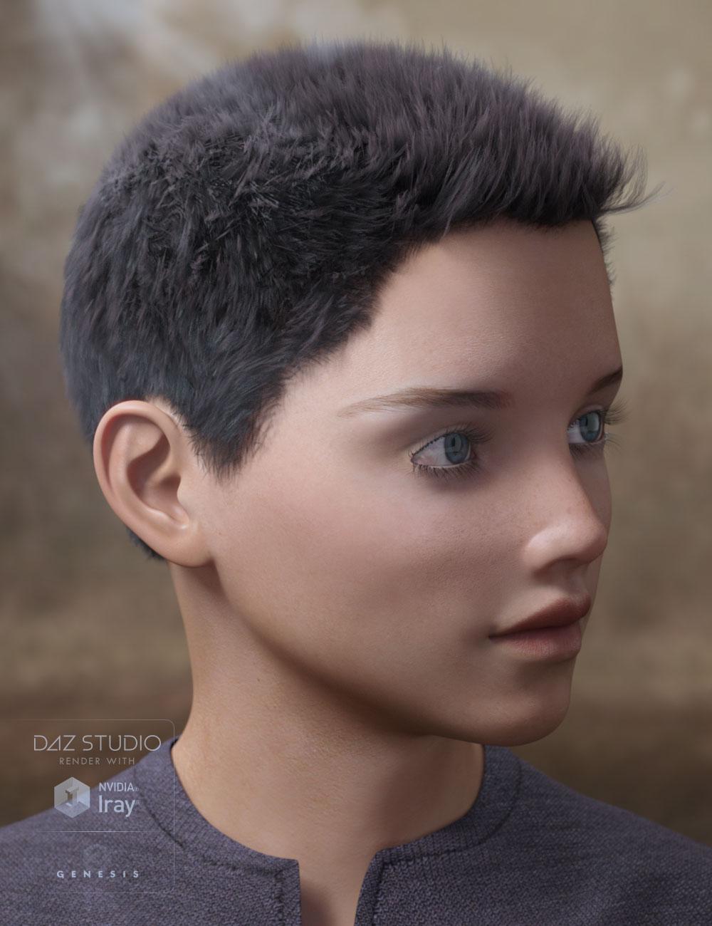 Tyler Hair for Genesis 2 & 3 Male(s) by: AprilYSH, 3D Models by Daz 3D