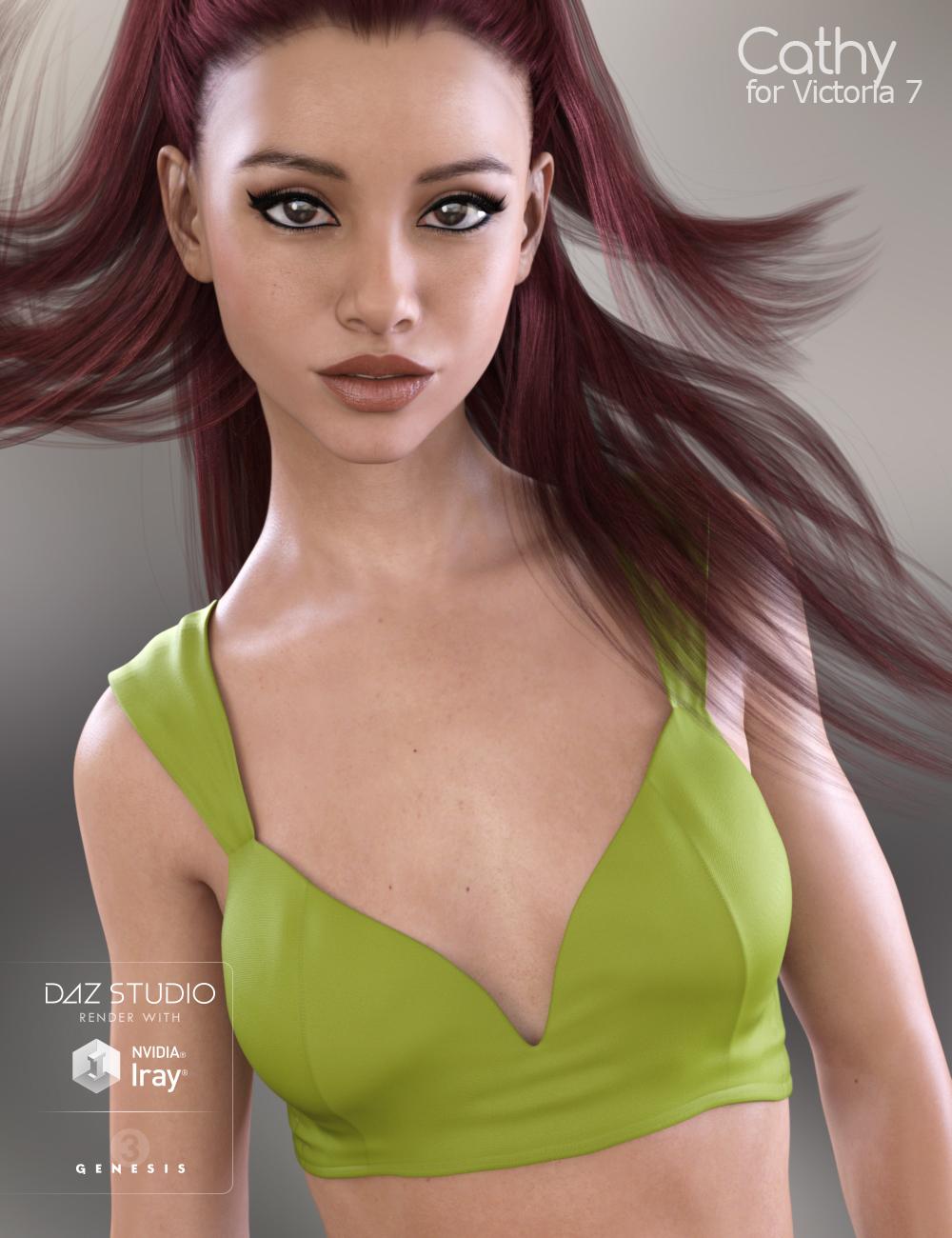 Cathy HD for Victoria 7 by: Raiya, 3D Models by Daz 3D