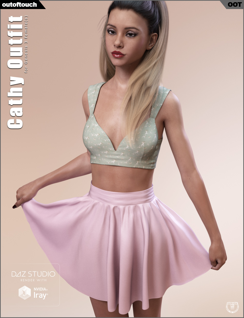 Cathy Outfit for Genesis 3 Female(s) by: outoftouch, 3D Models by Daz 3D