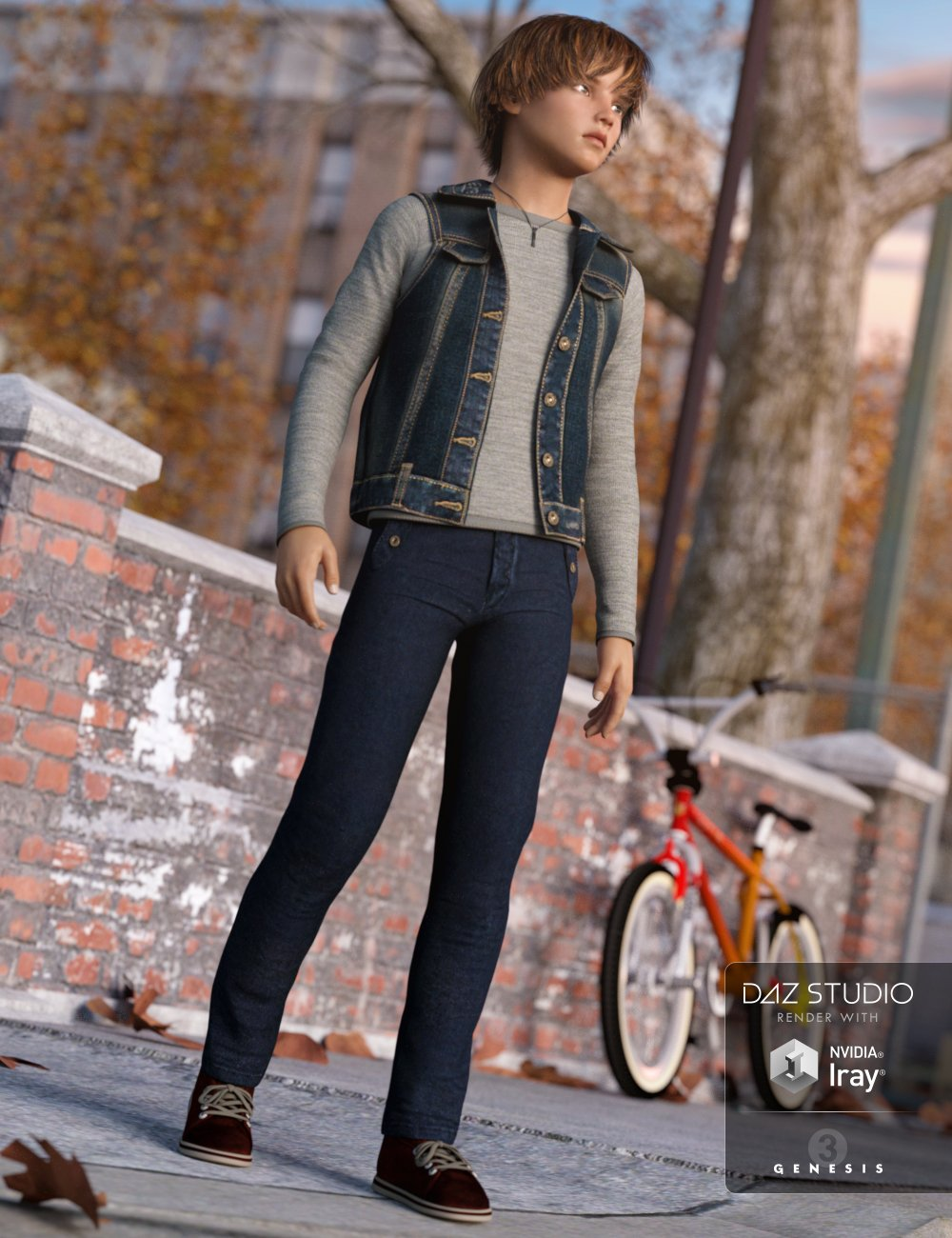 Everyday Casual Outfit for Genesis 3 Male(s) by: MadaSarsa, 3D Models by Daz 3D