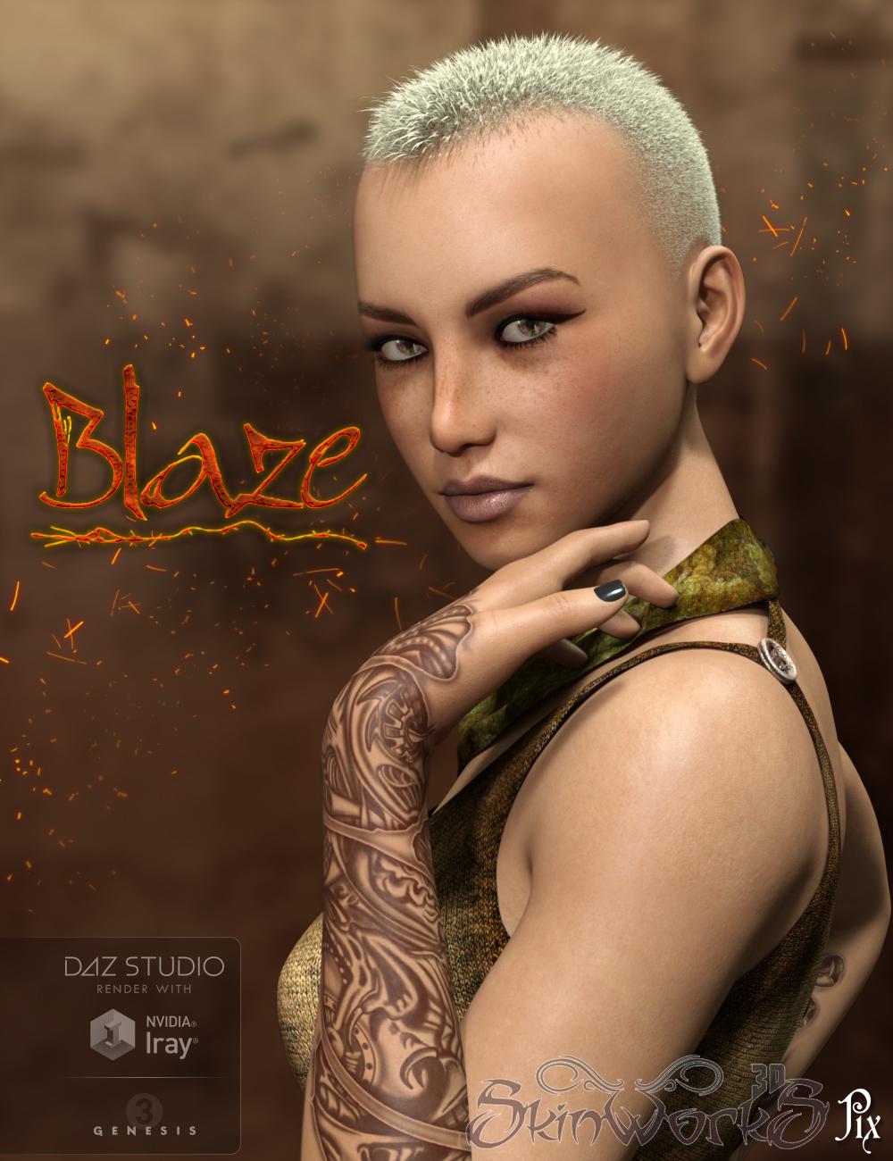 Pix Blaze for Genesis 3 Female(s) by: Pixeluna, 3D Models by Daz 3D