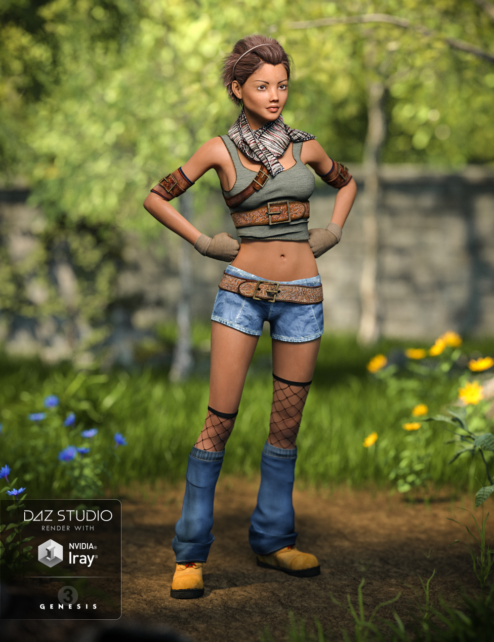 Quinn Outfit for Genesis 3 Female(s) by: Barbara BrundonSarsa, 3D Models by Daz 3D