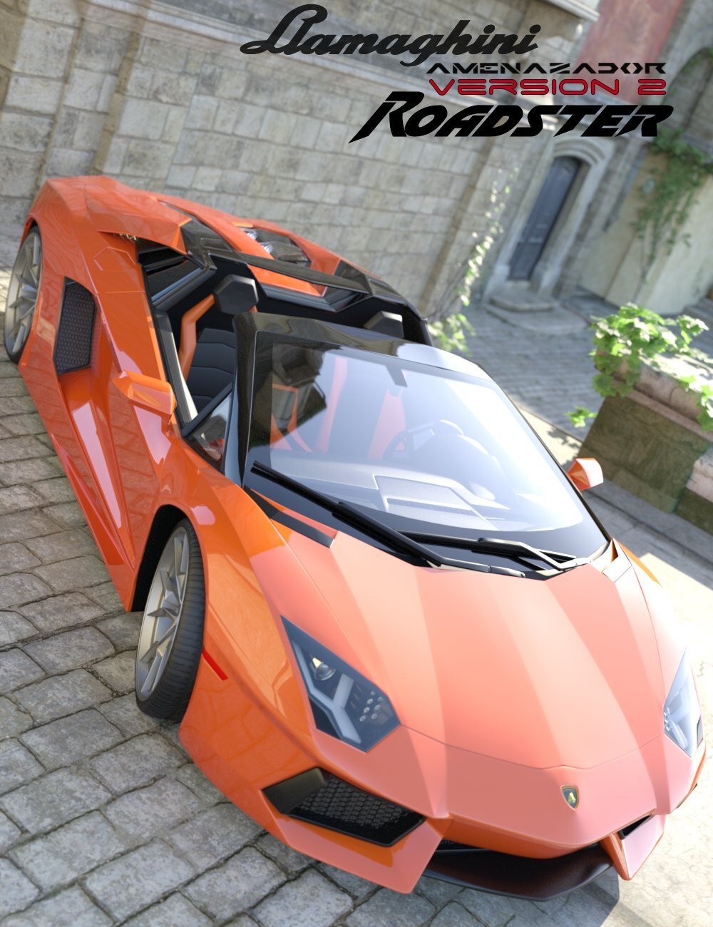 Llamaghini Amenazador Version 2 Roadster by: Mattymanx, 3D Models by Daz 3D