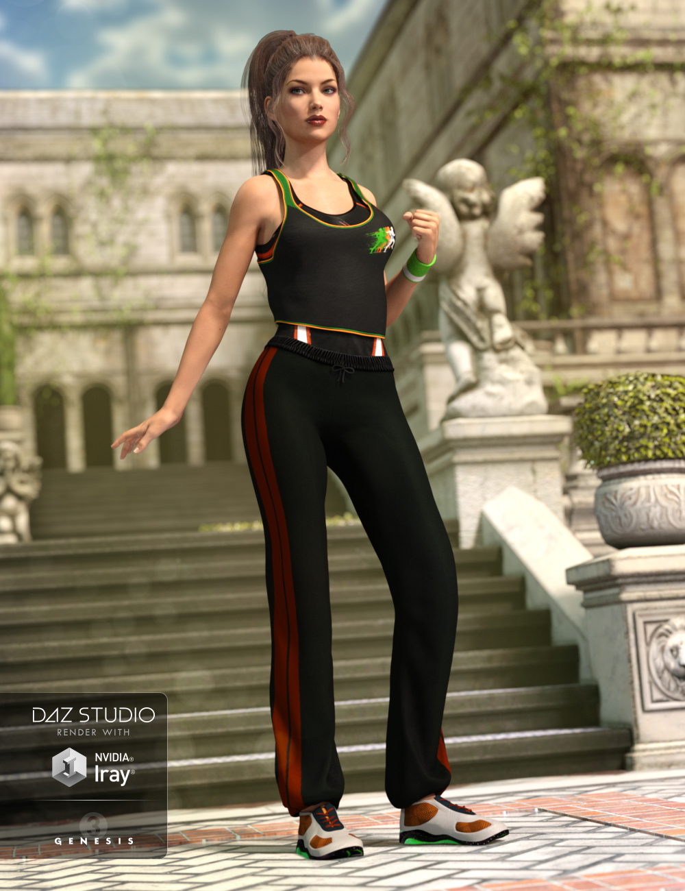 Athletic Gear for Genesis 3 Female(s) by: Shox-Design, 3D Models by Daz 3D