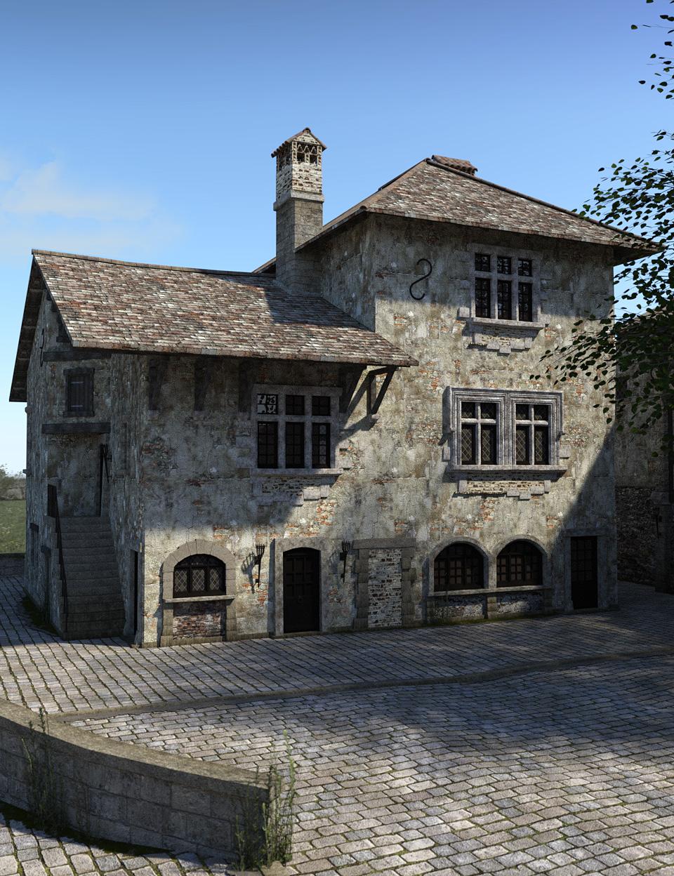 Perouges, Medieval Village by: Faveral, 3D Models by Daz 3D