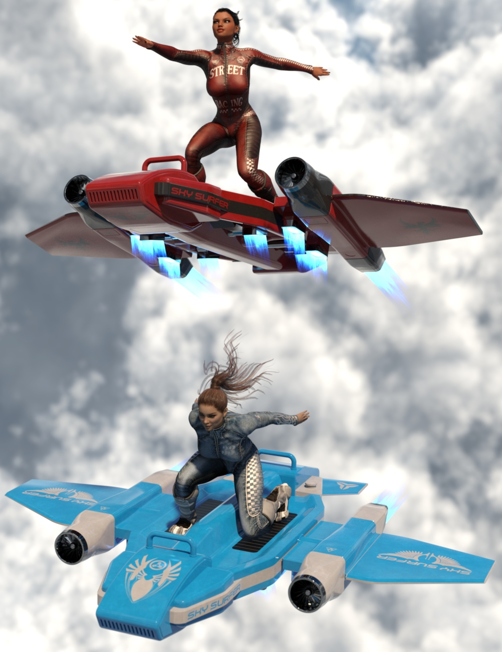 Sky Surfer by: Nightshift3D, 3D Models by Daz 3D