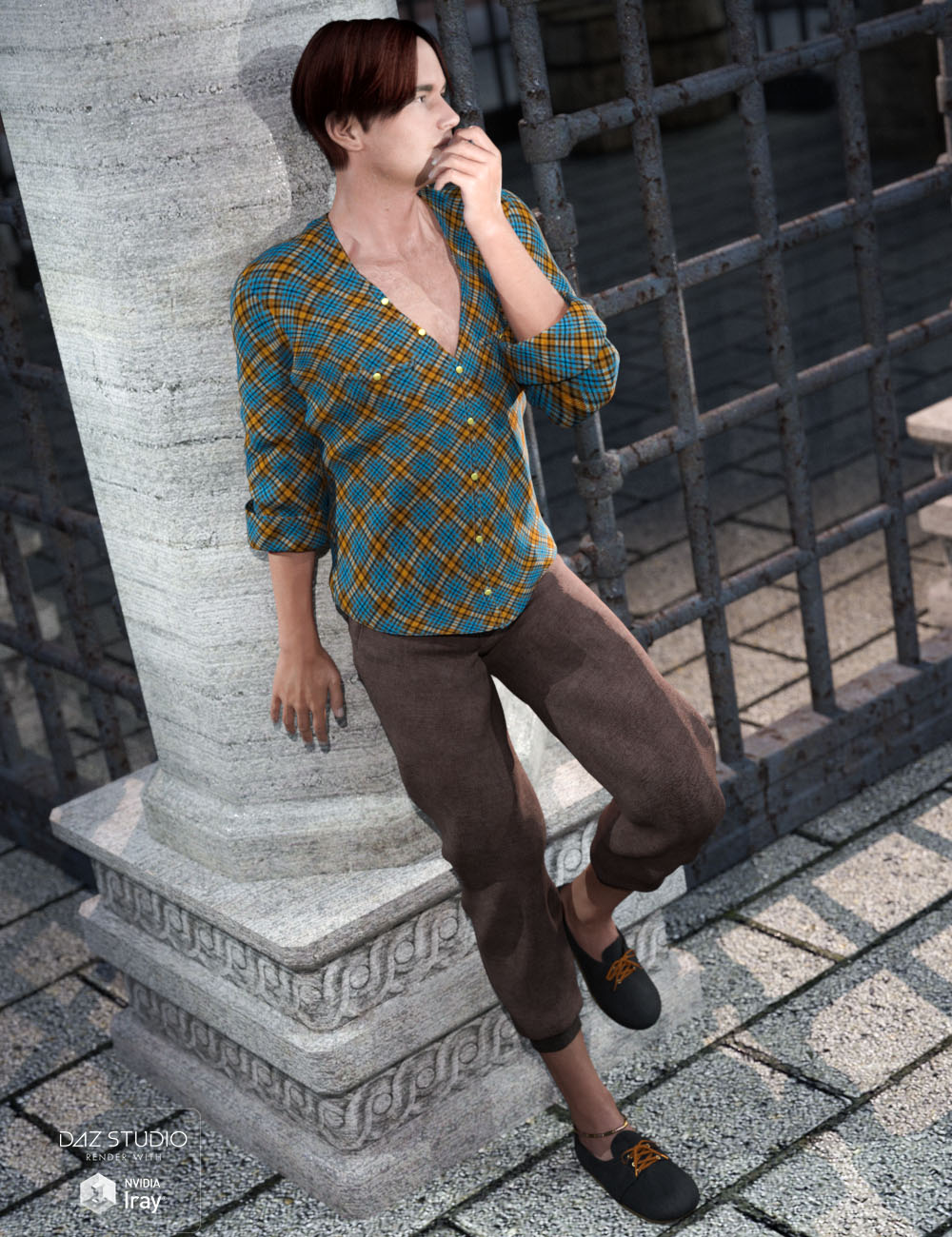 Mischa's Summer Casual for Genesis 3 Male(s) by: tentman, 3D Models by Daz 3D