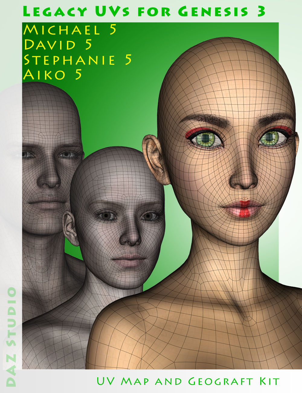 Legacy UVs for Genesis 3: Genesis Pack by: Cayman Studios, 3D Models by Daz 3D