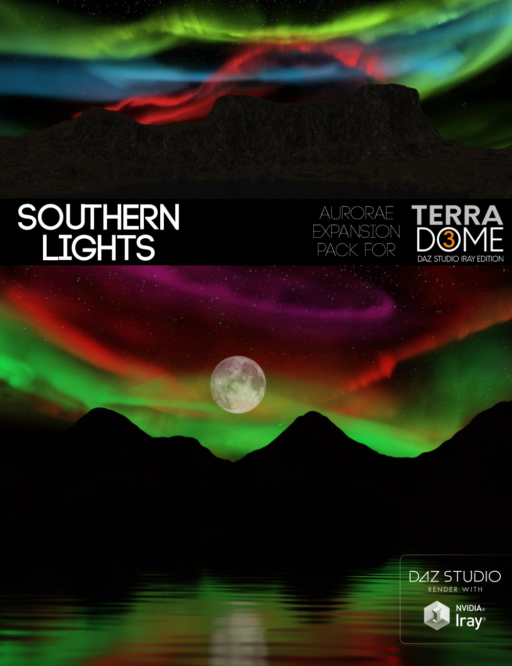 Southern Lights for TerraDome3 by: MortemVetus, 3D Models by Daz 3D