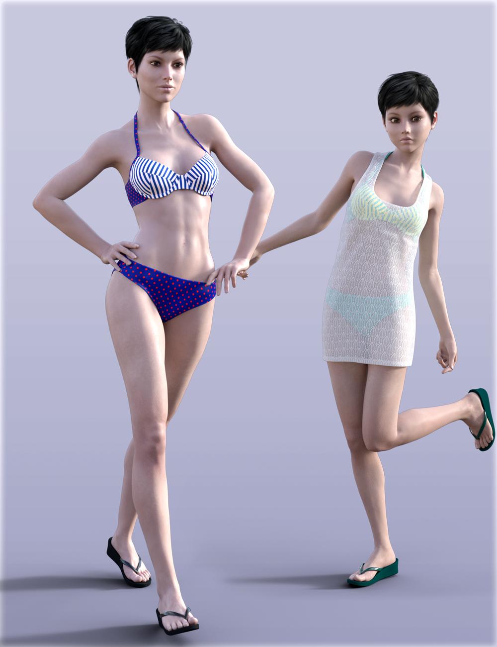 H&C Bikini Set for Genesis 3 Female(s) by: IH Kang, 3D Models by Daz 3D