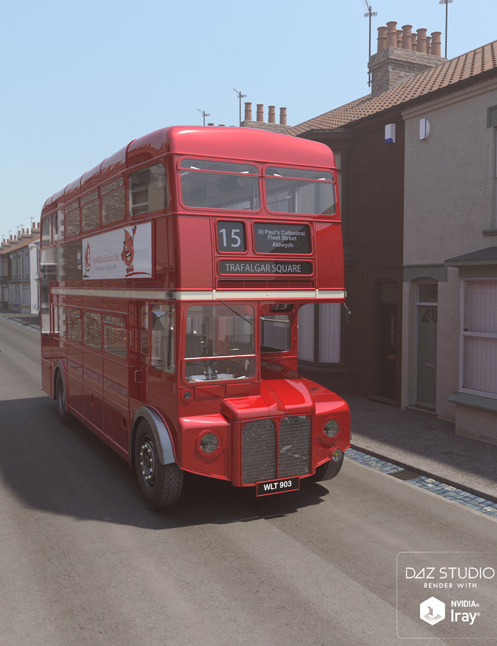 Vintage London Double Decker Bus by: David BrinnenForbiddenWhispers, 3D Models by Daz 3D