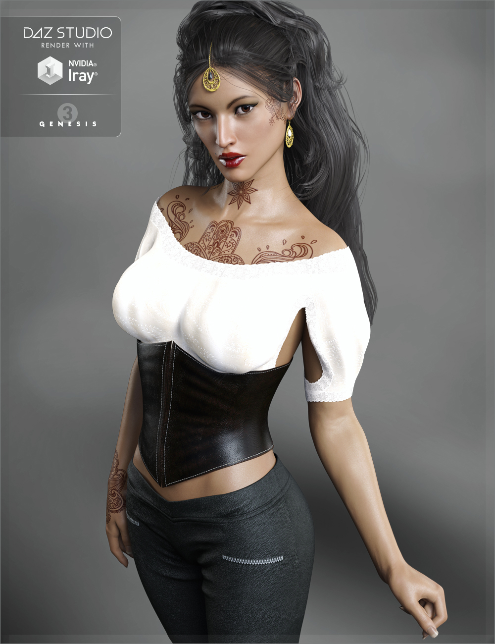 FW Sushmita HD for Victoria 7 and Her Jewelry by: Fisty & DarcFred Winkler Art, 3D Models by Daz 3D
