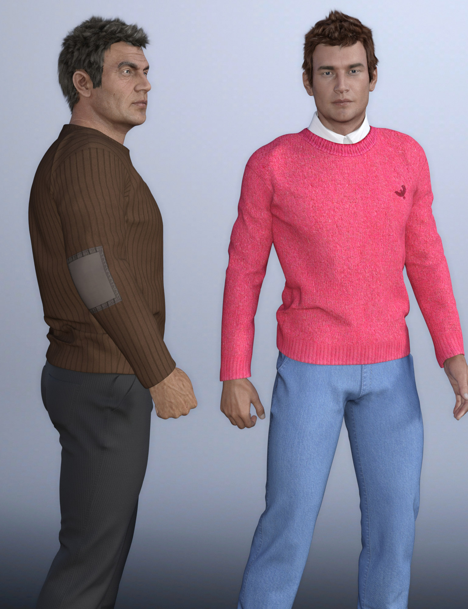 European Clothes for Genesis 3 Male(s) by: Oskarsson, 3D Models by Daz 3D