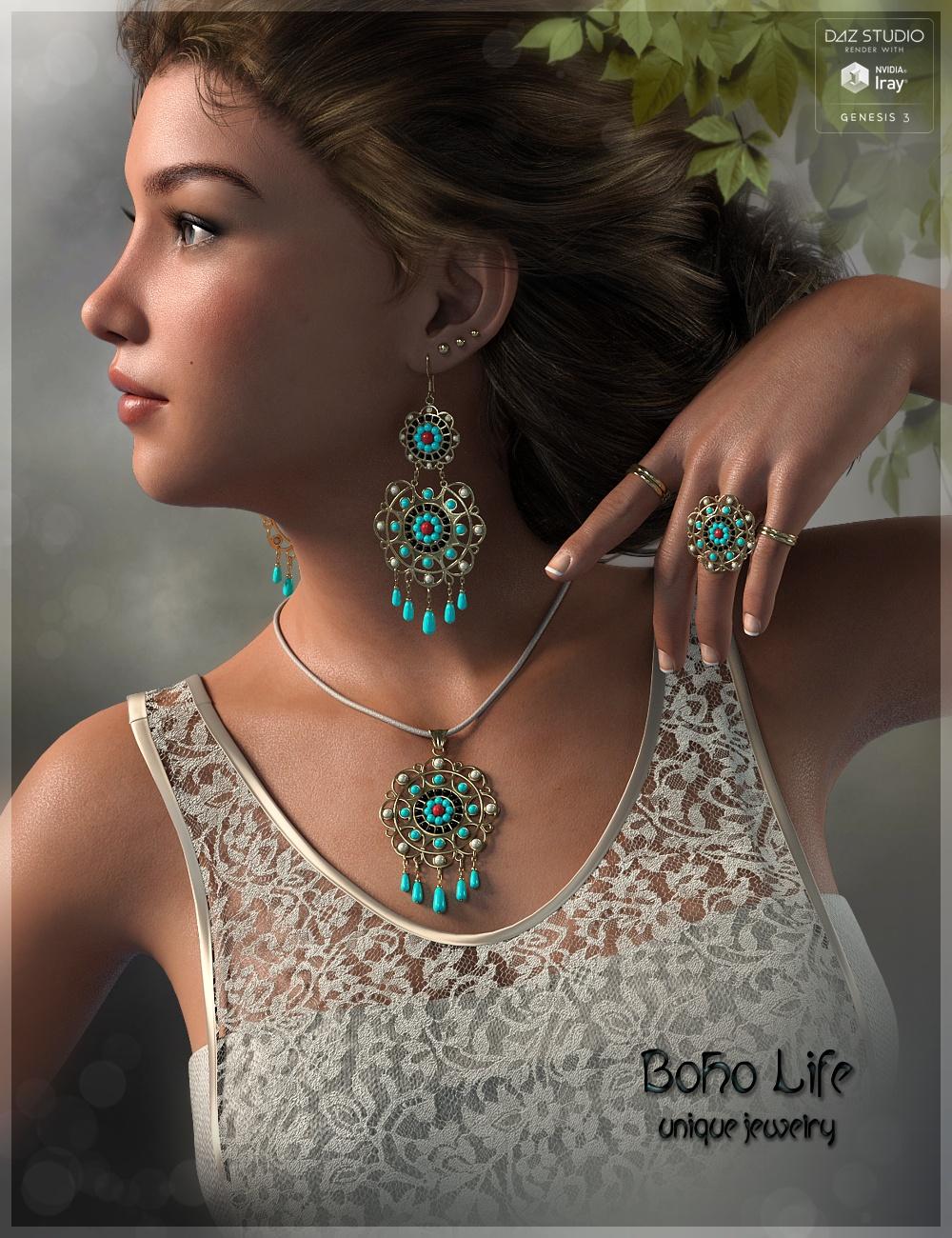 Boho Life Jewelry by: Fabiana, 3D Models by Daz 3D