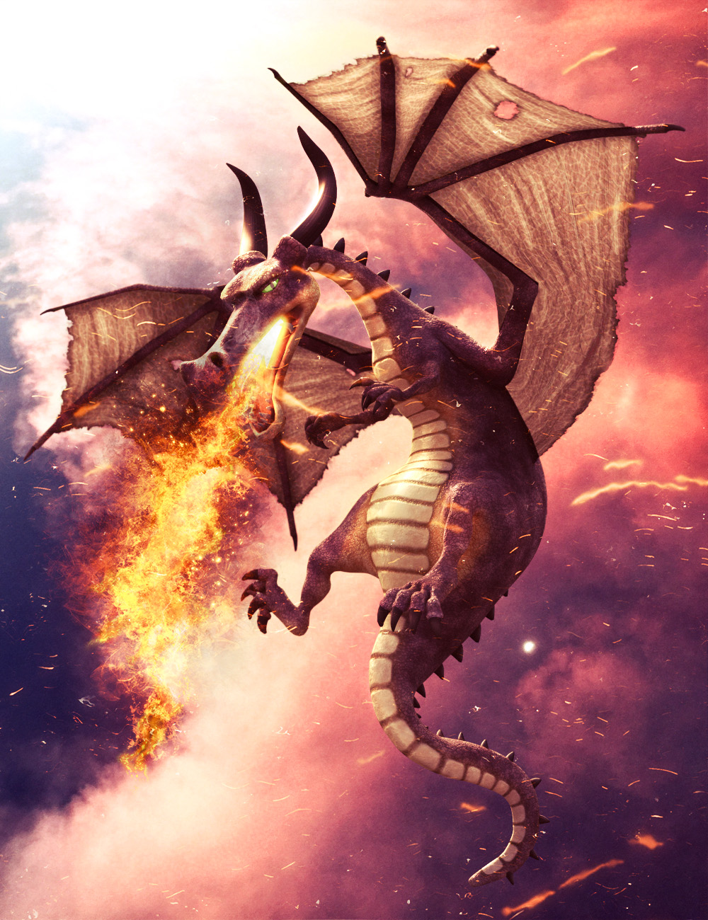 Mythical Dragon for Daz Dragon 3 by: 3D Universe, 3D Models by Daz 3D