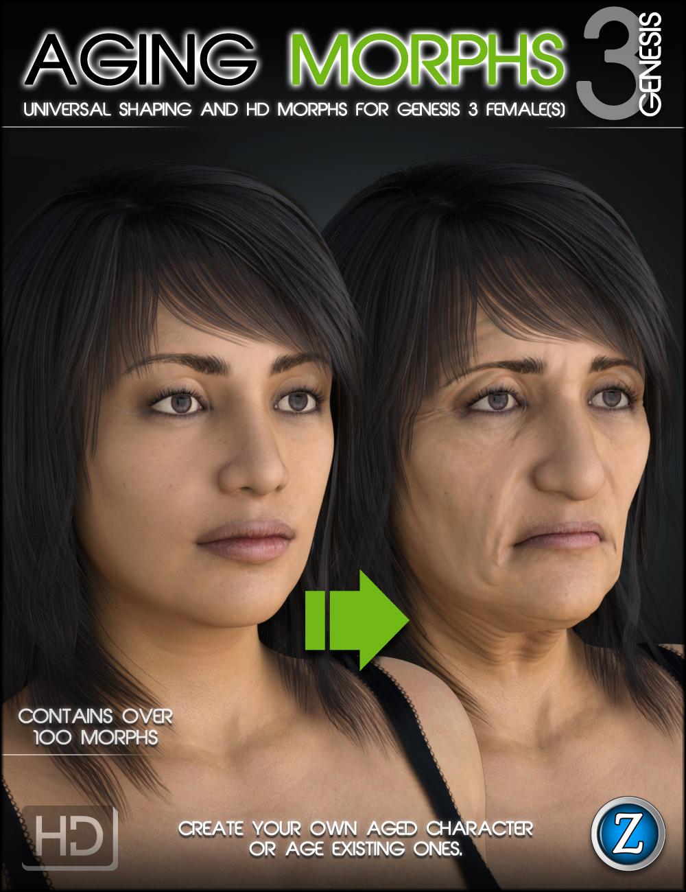 Aging Morphs 3 for Genesis 3 Female(s) by: Zev0, 3D Models by Daz 3D