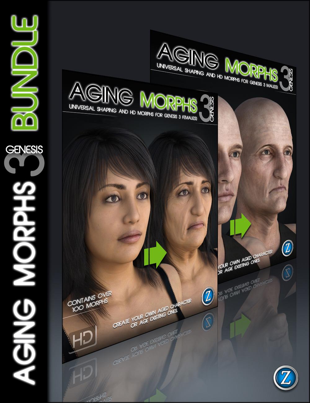 Aging Morphs 3 for Genesis 3 Bundle by: Zev0, 3D Models by Daz 3D
