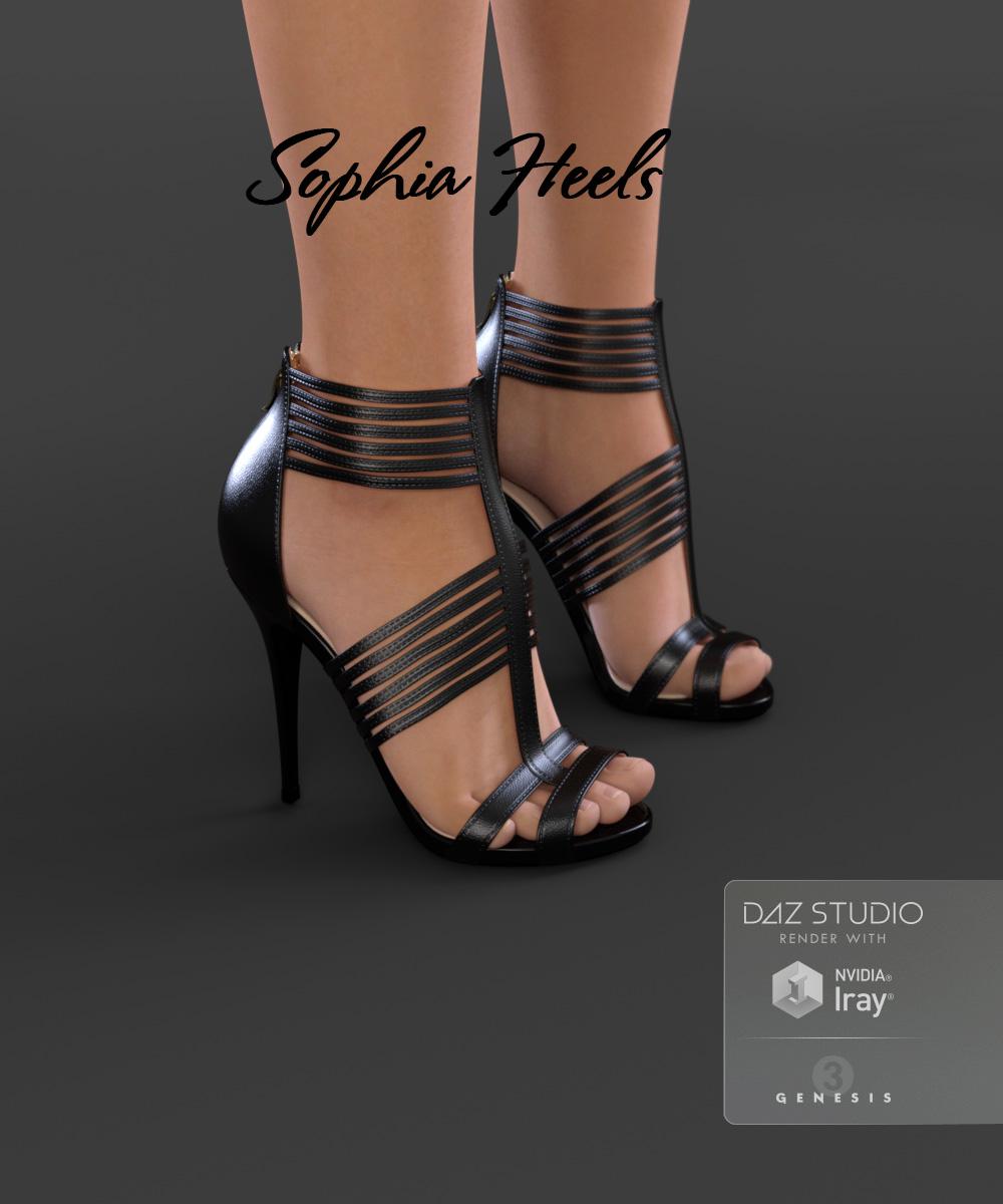 Sophia Heels for Genesis 3 Female(s) by: Arryn, 3D Models by Daz 3D