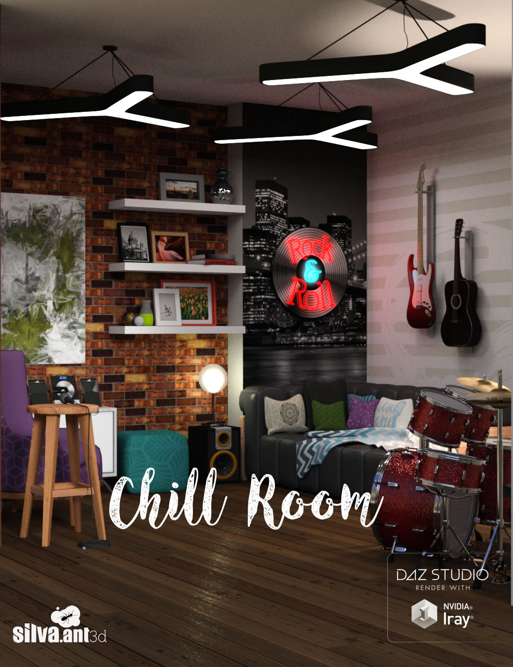 Chill Room by: SilvaAnt3d, 3D Models by Daz 3D